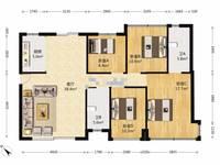 出售恒福新里程花园4室2厅2卫125平米159.8万住宅