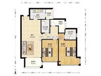 鸿安花园 中层毛坯104方3房2厅 南向户型 厅大房大 彩光一流 税满2年