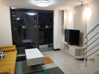 出租三水新动力广场复式公寓2房1厅家私家电齐全1800/月